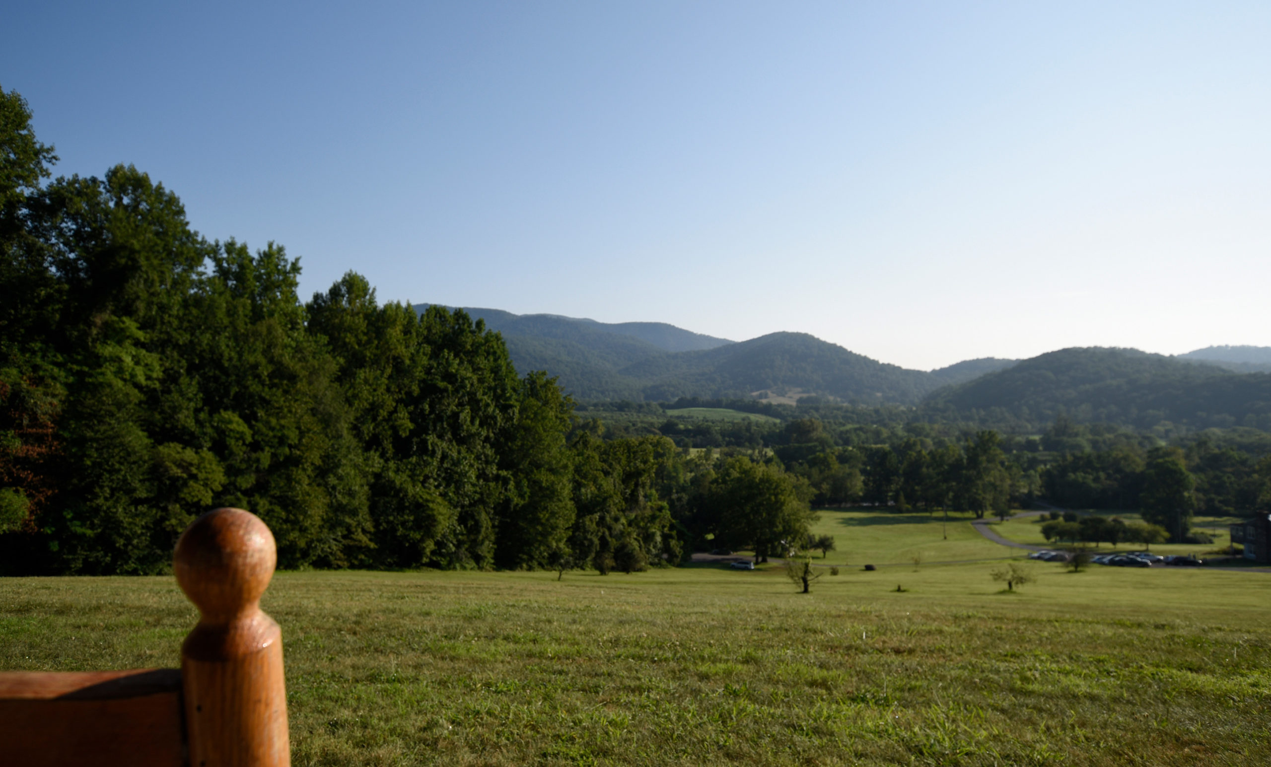 Graves Mountain Music Festival on the Farm in the Blue Ridge - view of the valley on a summer afternoon