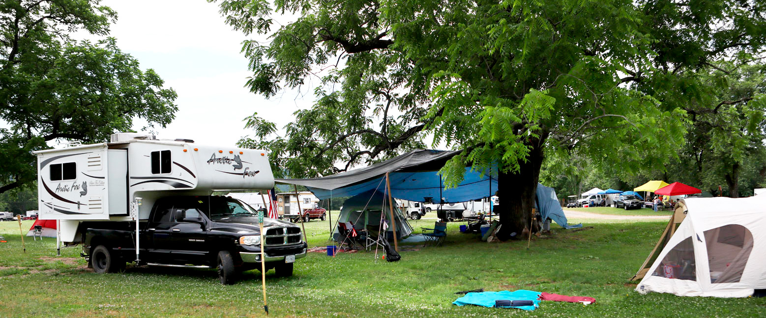 Camping at Graves Mountain for Festival Days