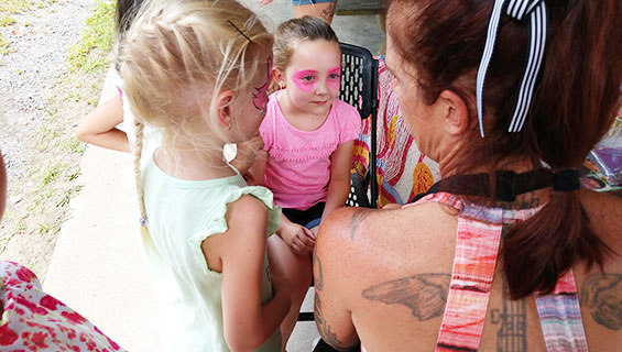 Face Paiting at Graves Mountain Music Festival Kids Tent