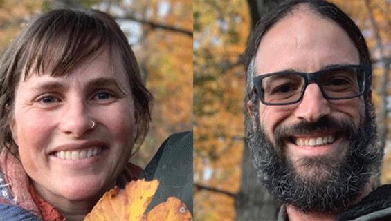 Jenn and Daniel Mintz lead nature walk at Graves Mountain Music Festival