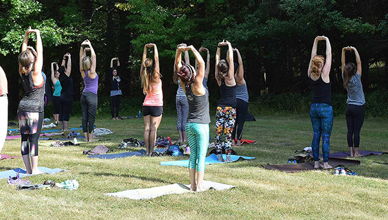 Yoga at Graves Mountain Music Festival