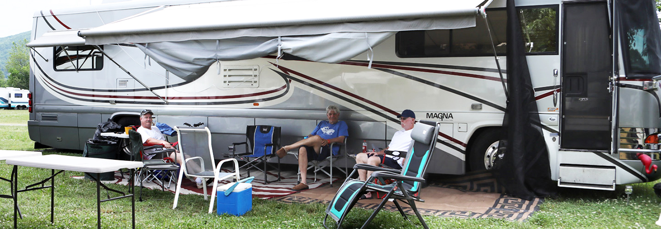 RV camping without Hook-ups at Graves Mountain Music Festival