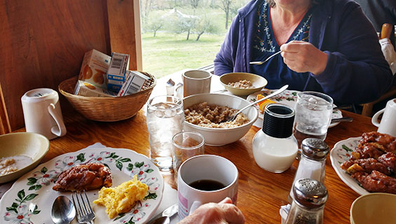 Breakfast at Graves Mountain Music Festival at Farm Restaurant